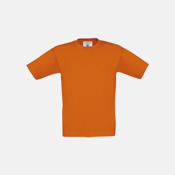 Orange (barn) Fina kvalitets bas t-shirts med reklamtryck