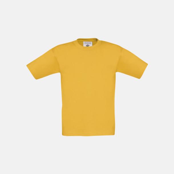 Gold (barn) Fina kvalitets bas t-shirts med reklamtryck