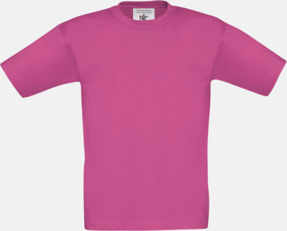 Fuchsia (barn) Fina kvalitets bas t-shirts med reklamtryck