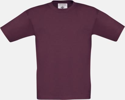 Burgundy (barn) Fina kvalitets bas t-shirts med reklamtryck