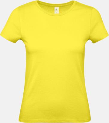 Solar Yellow (dam) Fina kvalitets bas t-shirts med reklamtryck