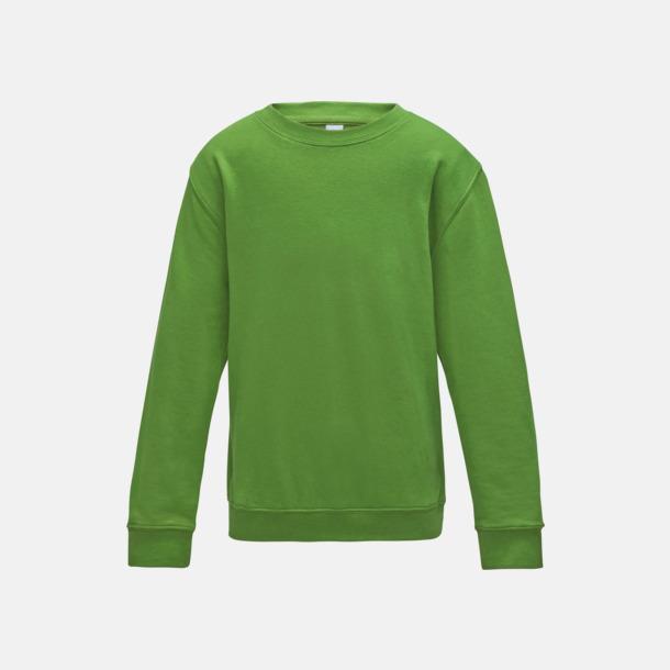 Limegrön (barn) Tröjor i många färger med reklamtryck