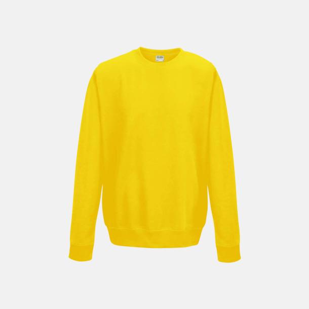 Sun Yellow (unisex) Tröjor i många färger med reklamtryck