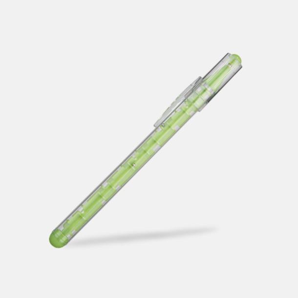 Limegrön Knep & knåp pennor med reklamtryck