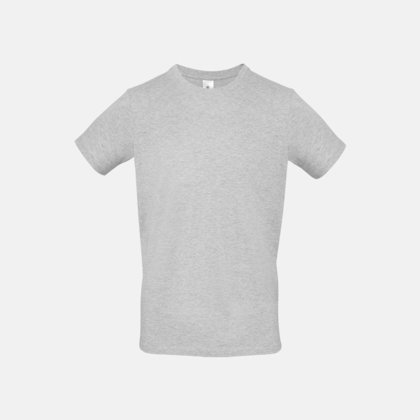Ash heather (herr) Fina kvalitets bas t-shirts med reklamtryck