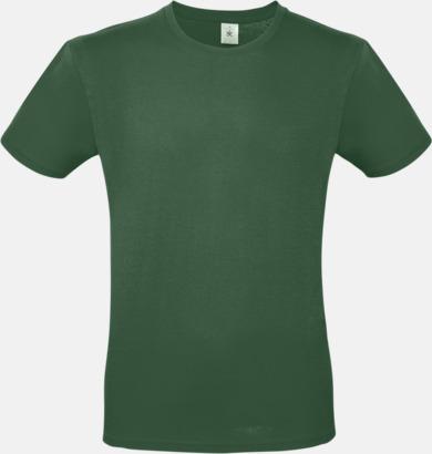 Bottle Green (herr) Fina kvalitets bas t-shirts med reklamtryck