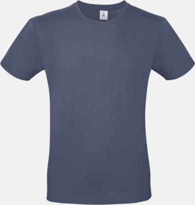 Denim (herr) Fina kvalitets bas t-shirts med reklamtryck