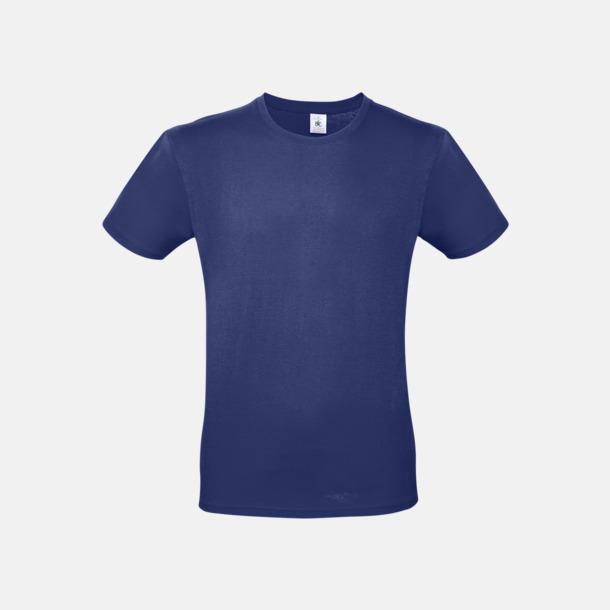 Electric Blue (herr) Fina kvalitets bas t-shirts med reklamtryck