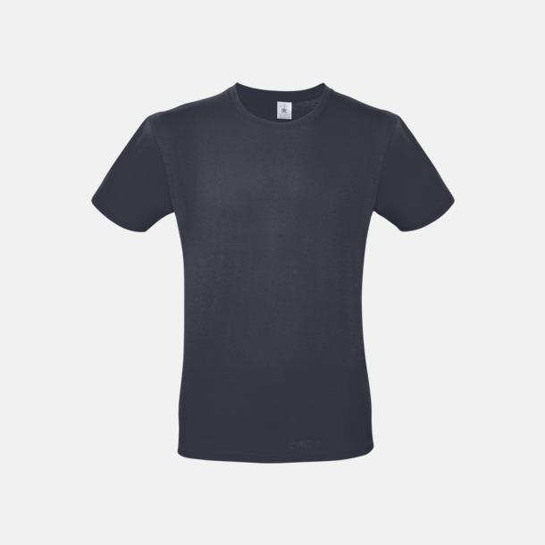 Light Navy (herr) Fina kvalitets bas t-shirts med reklamtryck