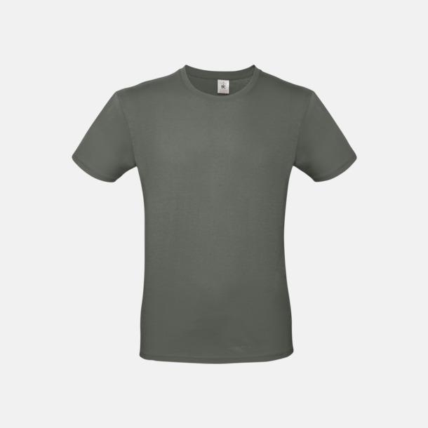 Millennial Khaki (herr) Fina kvalitets bas t-shirts med reklamtryck