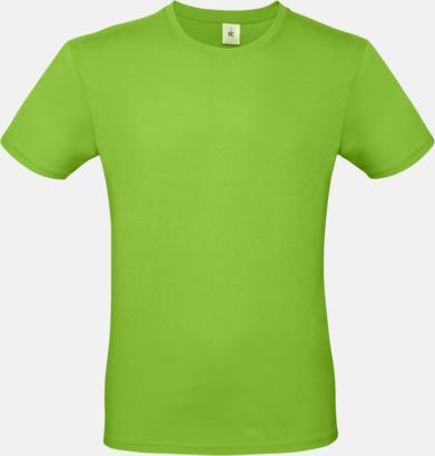 Orchid Green (herr) Fina kvalitets bas t-shirts med reklamtryck