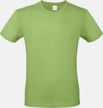 Pistachio (herr) Fina kvalitets bas t-shirts med reklamtryck