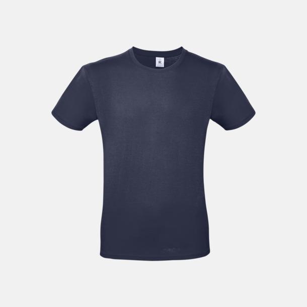 Urban Navy (herr) Fina kvalitets bas t-shirts med reklamtryck
