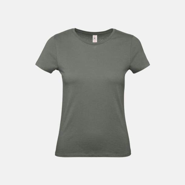 Millennial Khaki (dam) Fina kvalitets bas t-shirts med reklamtryck