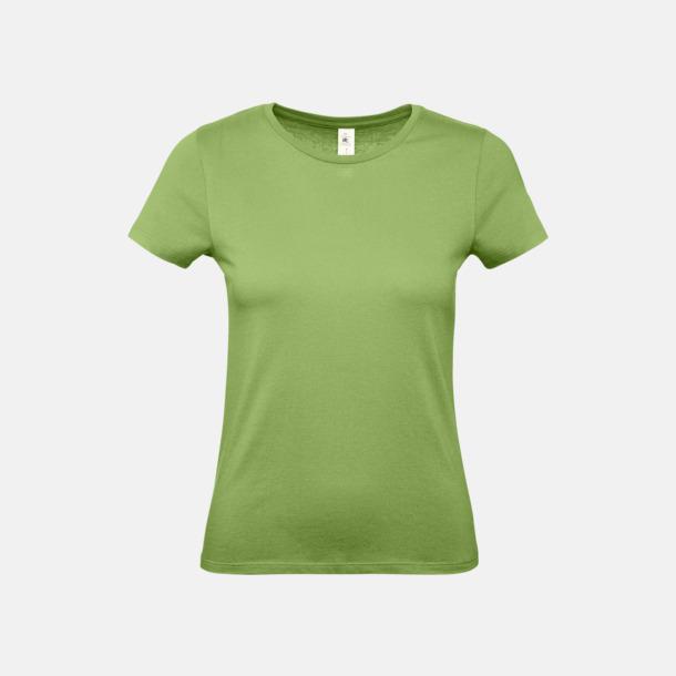 Pistachio (dam) Fina kvalitets bas t-shirts med reklamtryck