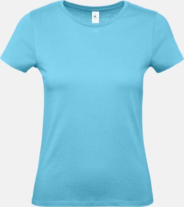Turkos (dam) Fina kvalitets bas t-shirts med reklamtryck
