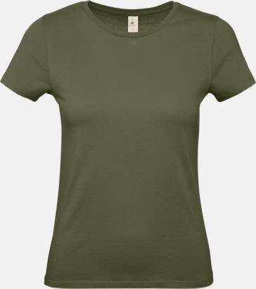 Urban Khaki (dam) Fina kvalitets bas t-shirts med reklamtryck