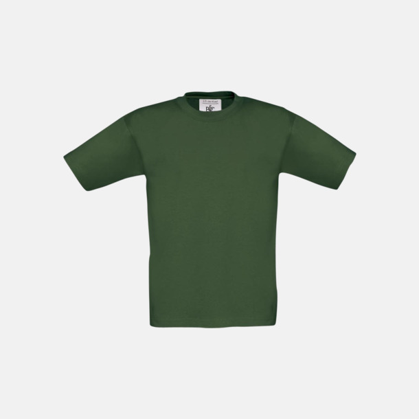 Bottle Green (barn) Fina kvalitets bas t-shirts med reklamtryck