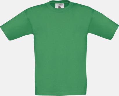Kelly Green (barn) Fina kvalitets bas t-shirts med reklamtryck