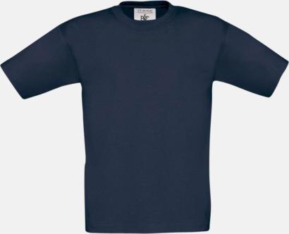 Light Navy (barn) Fina kvalitets bas t-shirts med reklamtryck