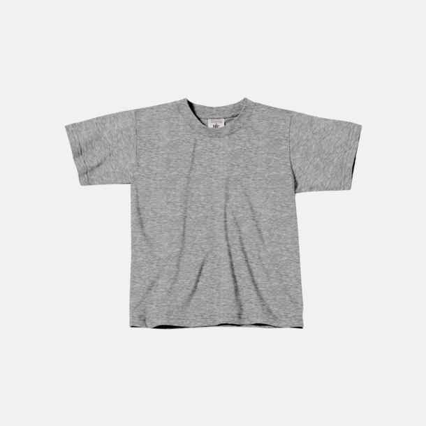 Sport Grey heather (barn) Fina kvalitets bas t-shirts med reklamtryck