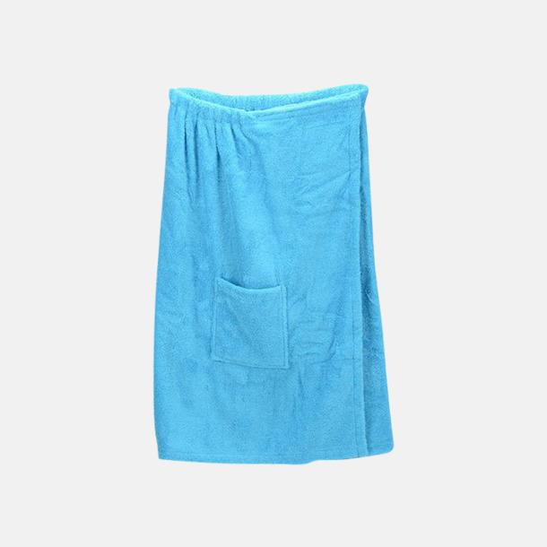 Aqua Blue (dam) Färgglada bastukiltar meed kardborre - med reklamlogo
