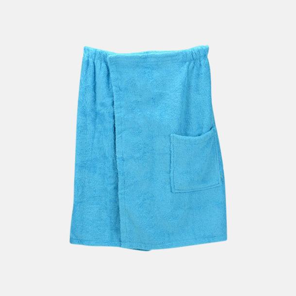 Aqua Blue (herr) Färgglada bastukiltar meed kardborre - med reklamlogo