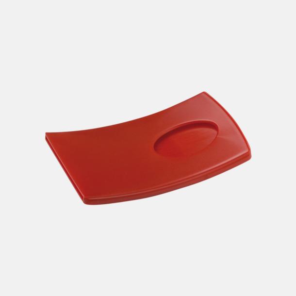 Röd Kurvade kortfodral med reklamtryck