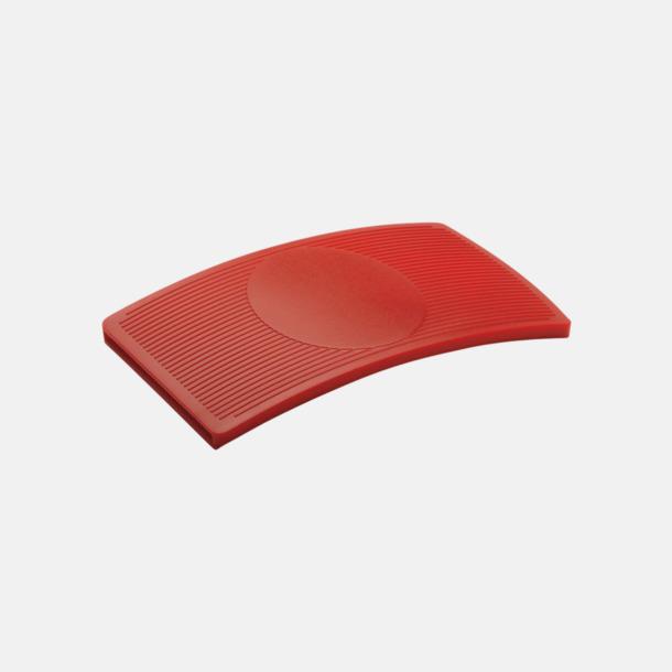 Baksida (röd) Kurvade kortfodral med reklamtryck
