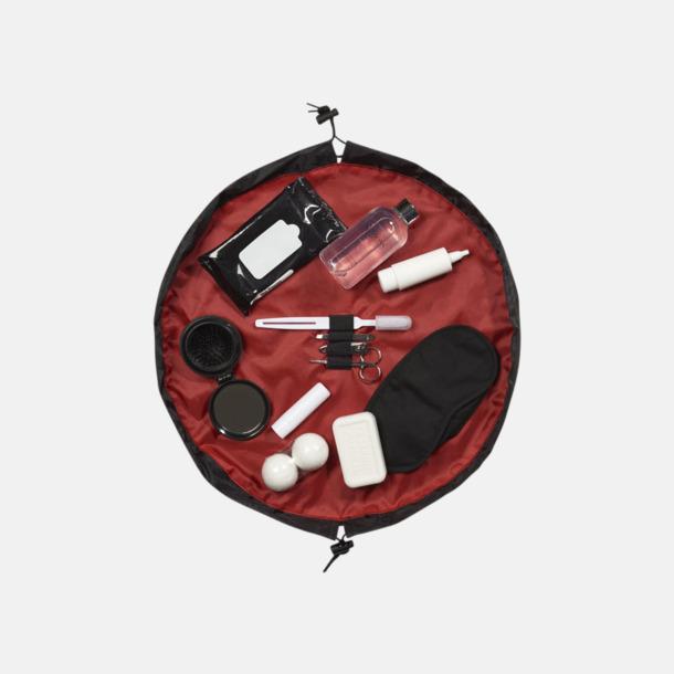 Röd Kompakta necessärer med reklamtryck