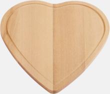 Hjärtformade skärbrädor med reklamlogo