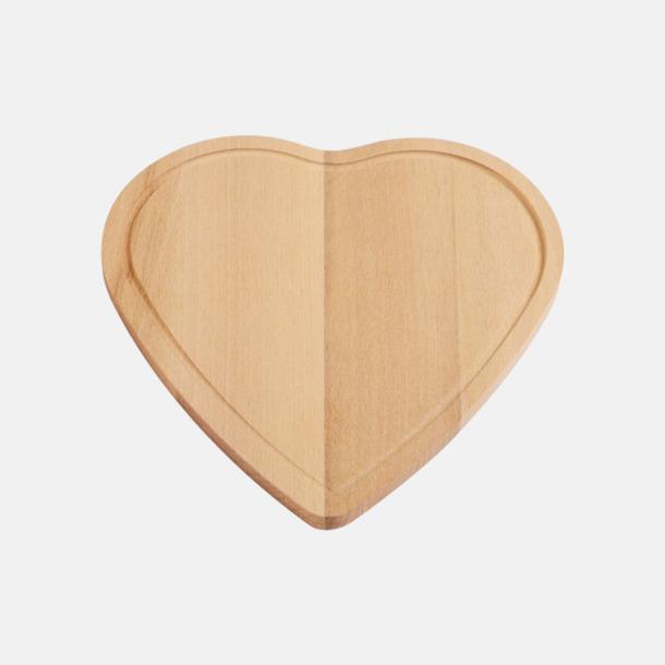 Trä Hjärtformade skärbrädor med reklamlogo