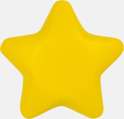 Gul Stjärnformade stressbollar med reklamtryck