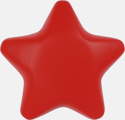 Röd Stjärnformade stressbollar med reklamtryck