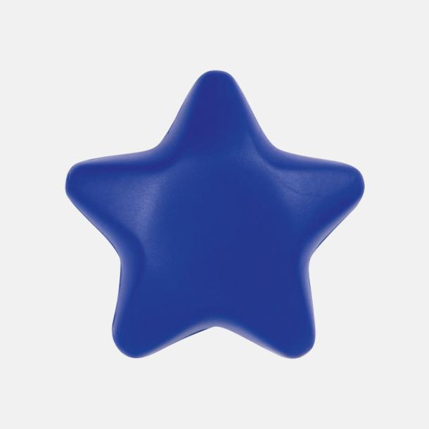 Blå Stjärnformade stressbollar med reklamtryck