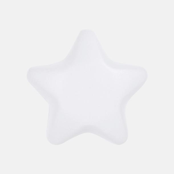 Vit Stjärnformade stressbollar med reklamtryck