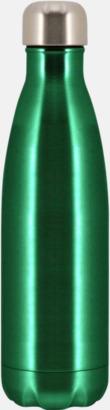 Emeraldgrön Moderna stålflaskor med reklamtryck