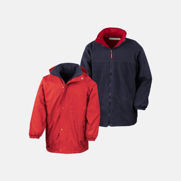Röd/Marinblå (unisex) Vändbara jackor för vuxna & barn - med reklamtryck