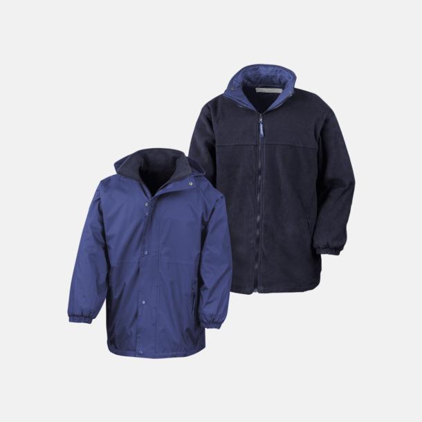 Royal/Marinblå (unisex) Vändbara jackor för vuxna & barn - med reklamtryck