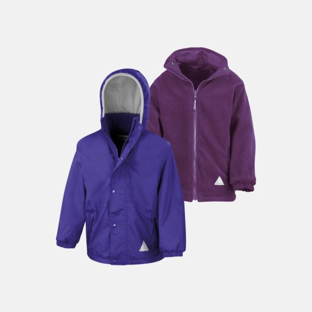 Lila/Lila (barn) Vändbara jackor för vuxna & barn - med reklamtryck