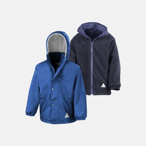 Royal/Marinblå (barn) Vändbara jackor för vuxna & barn - med reklamtryck
