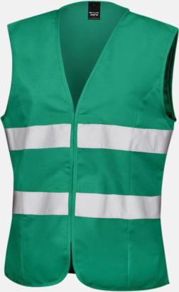 Paramedic Green Reflexvästar med feminin passform - med reklamtryck