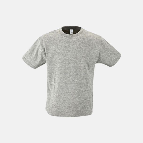 Grey Melange Billig barn t-shirts i rmånga färger med reklamtryck