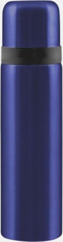 Safirblå Fickståltermos med reklamtryck