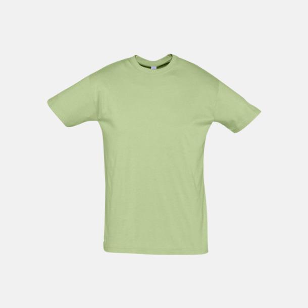 Sage Green Billiga unisex t-shirts i många färger med reklamtryck