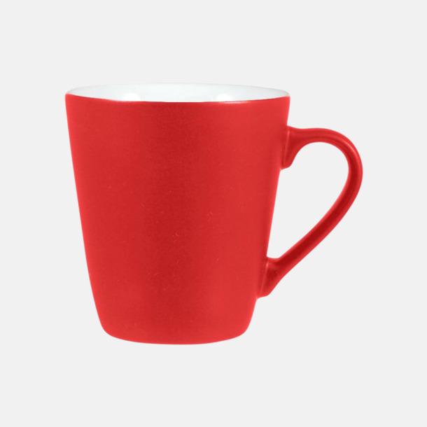 Röd / Vit Kaffemuggar i stengodsmuggar med reklamtryck