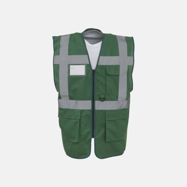 Paramedic Green Varselvästar med 2-färgade modeller - med reklamtryck