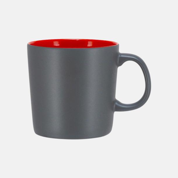 Grå/Röd (matt) Koppar med reklamtryck