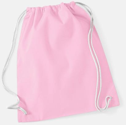 Classic Pink/Vit Gympapåsar i bomull med reklamtryck