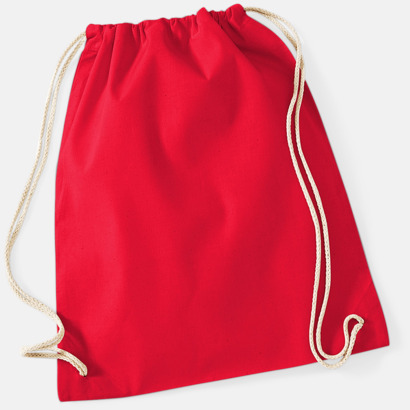 Classic Red Gympapåsar i bomull med reklamtryck